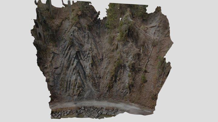Lainbachtal - Chevron - Falte 3D Model