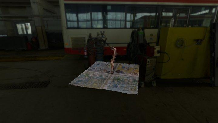 Mano - Arco palmar profundo 3D Model