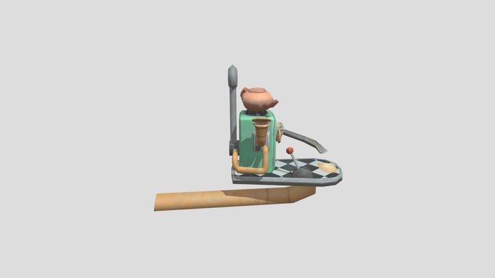 Steampunk Bird Feeder 3D Model