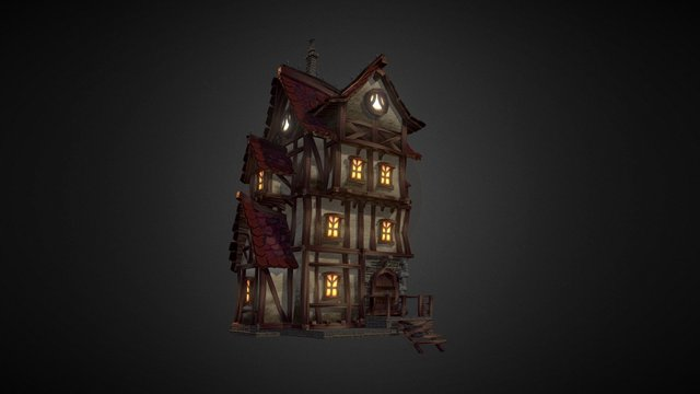 Village House_03 (Team Creepy) 3D Model