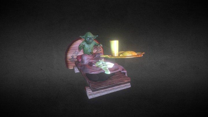 Yoda loko de goró #maionerdmctech 3D Model