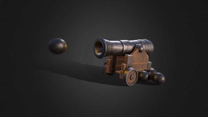 1 Day Challenge - Pirate Cannon 3D Model