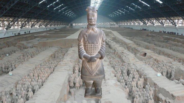 Infante de terracota Mausoleo de Quin Shi Huang 3D Model