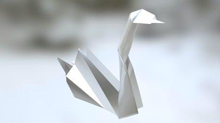 Origami Swan 3D Model