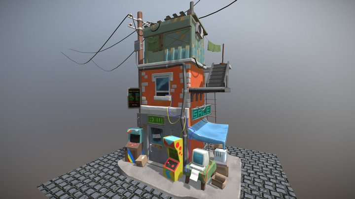 Polycount February 2018 Challenge - Hand Painted 3D Model
