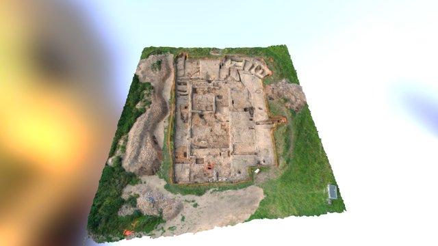 Binchester Roman Fort. Trench 1. 2015. 3D Model