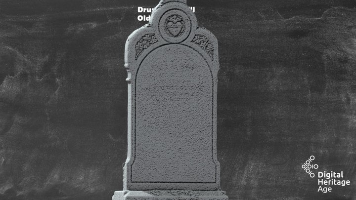 Drumgoon Hill - Old Graveyard Headstone 488 3D Model