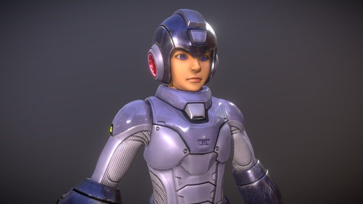 Megaman with Helmet 3D Model