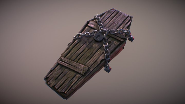 Chained Coffin 3D Model
