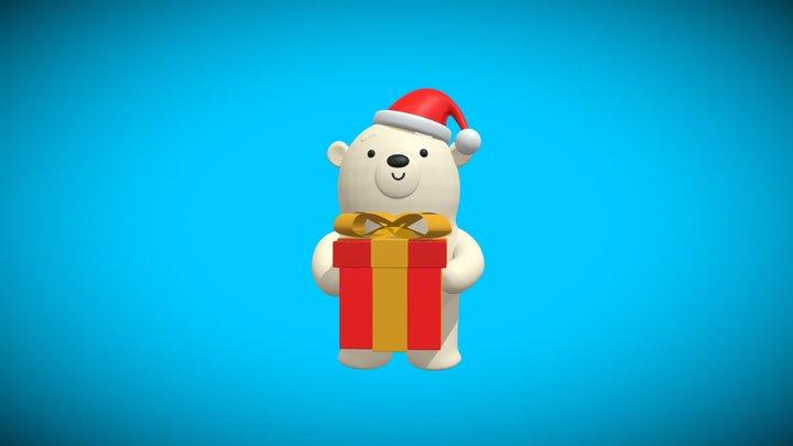 christmas polar bear 3D Model
