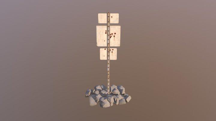 Dimi Road Sign 2 3D Model