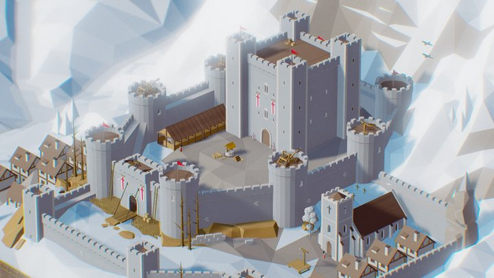 Low Poly Ultimate Pack - Castle 3D Model
