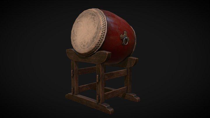 Japanese Drum Taiko 3D Model