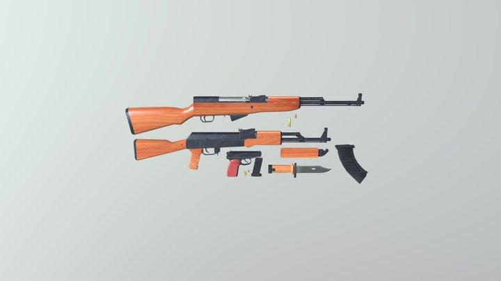Soviet Gun Small Pack 3D Model