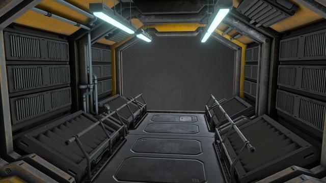 Sci-fi Hallway 3D Model