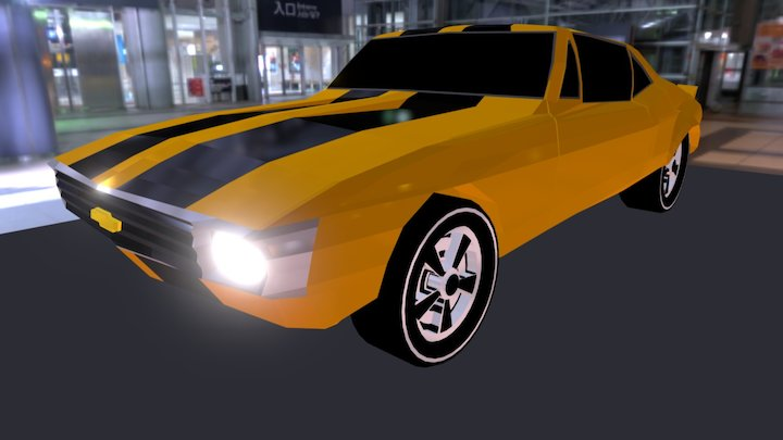 Camaro Yellow 3D Model