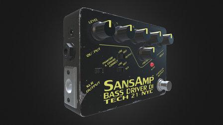 Bass Pedal Asset 3D Model