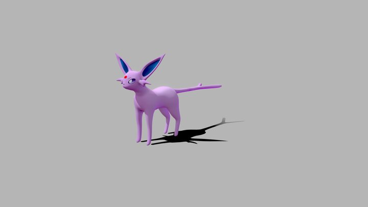 Espeon - Pokemon 3D Model