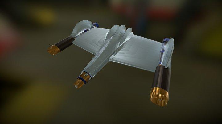 Space Ship 2 3D Model