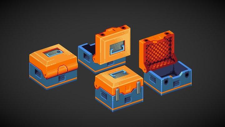 Low-Fi Loot Crate 3D Model