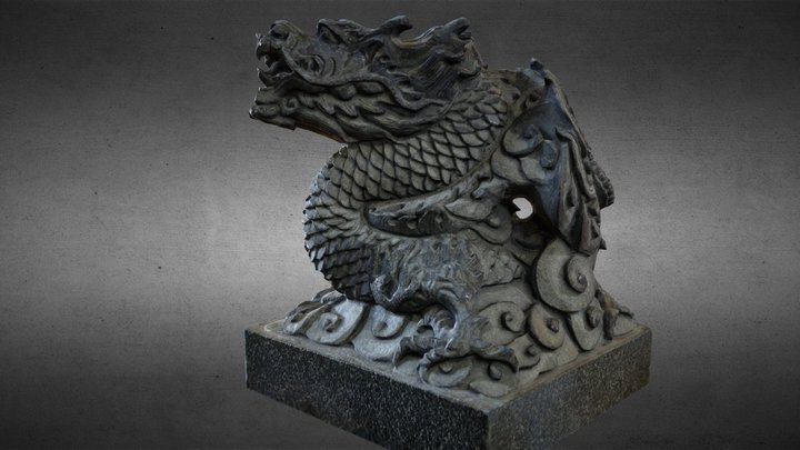 Lion-Statue-004-01 台北市文昌街三聖宮 3D Model
