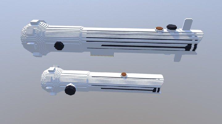 Ahsoka Tano's clone wars lightsabers 3D Model