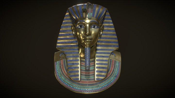 Tutankhamun golden Mask 3D Model