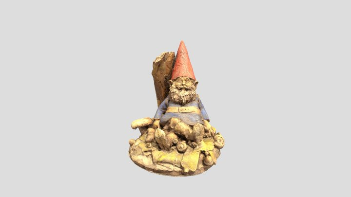 Reclining Gnome 3D Model