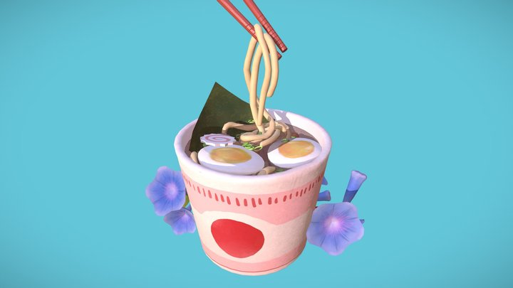 Udon Cup 3D Model