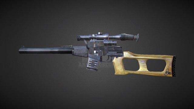 Special Sniper Rifle VSS Vintorez 3D Model