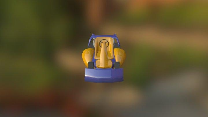 Racer Orange 3D Model