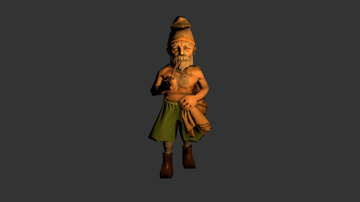 Character Low Poly 3D Model