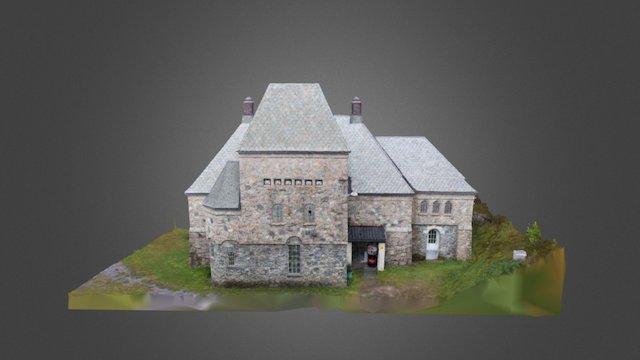 Longerak kraftstasjon - low detail 3D Model