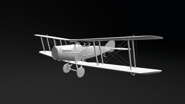 Bristol F.2B - La Première Guerre mondiale 3D Model
