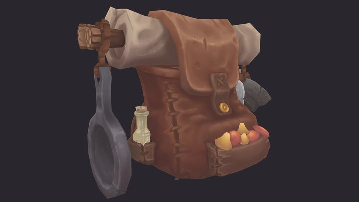 Mushroom Hunting Bag 3D Model