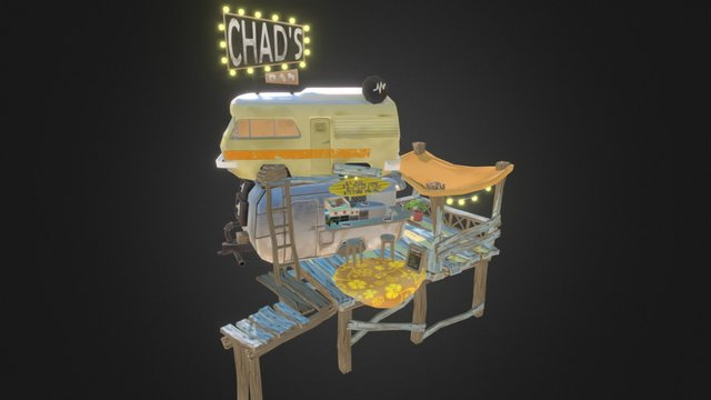 Chad's Bar and Grill 3D Model