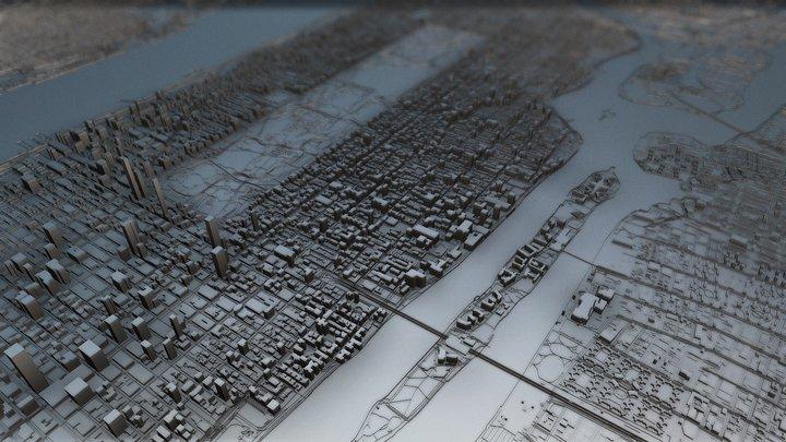 New York (Central Park, Upper Manhattan), USA 3D Model