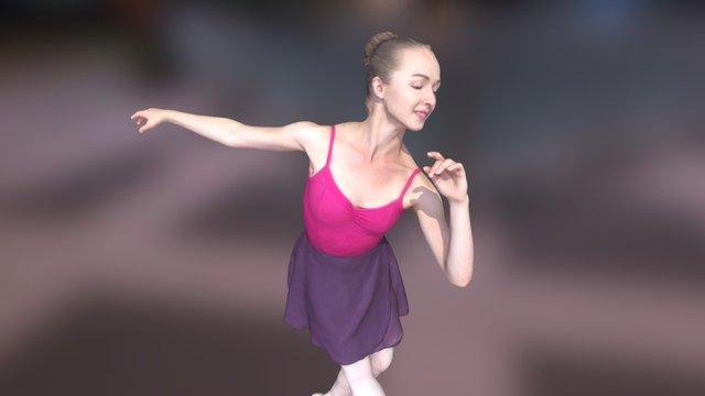 Ballet Dancer 3D Model