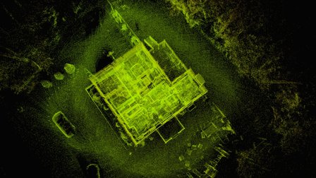 Colonial House & Forestry - Laser Scan 3D Model