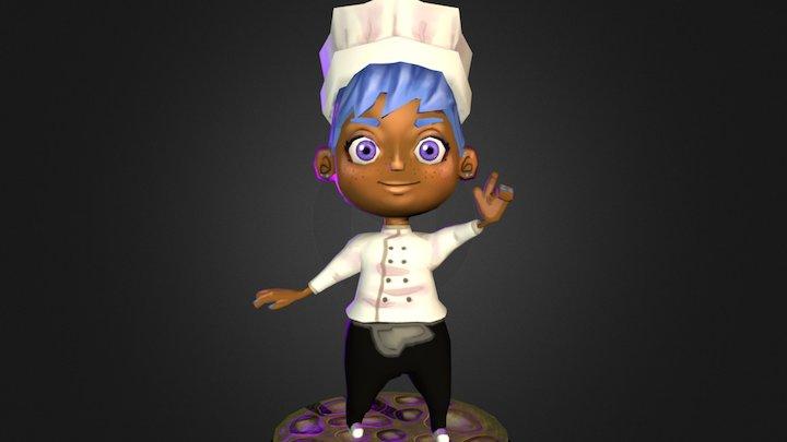Cake Wars: Female Protag 3D Model