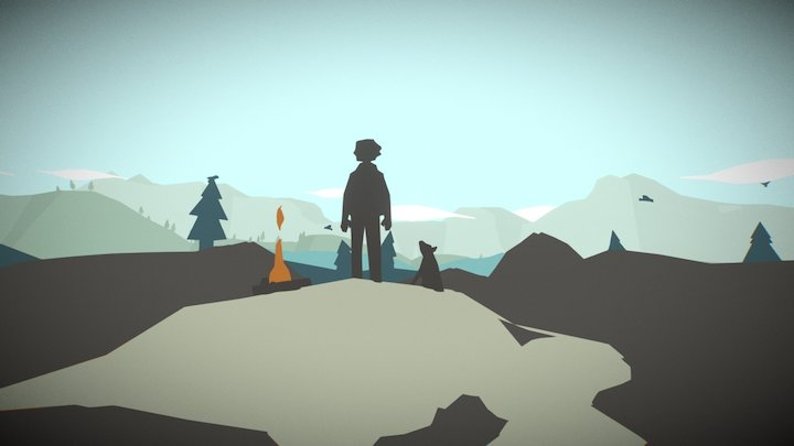 Low Poly Environment 3D Model