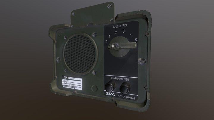 Military speaker 3D Model