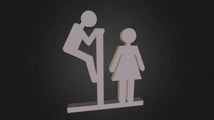 WC Sign 3D Model