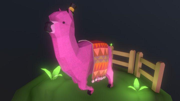 Low poly alpaca 3D Model