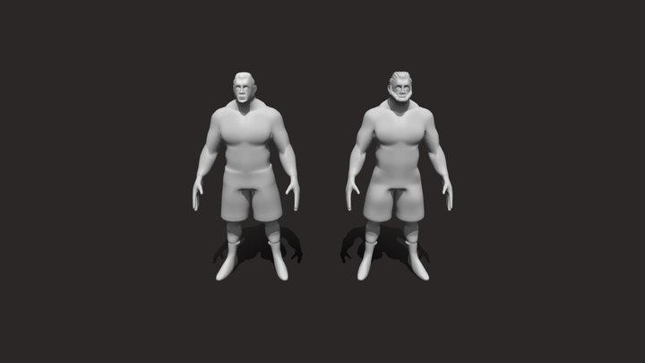 LowPoly HighPoly Human Character Model 3D Model
