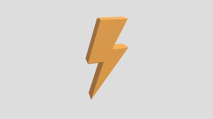 Lightning Bolt 3D Model