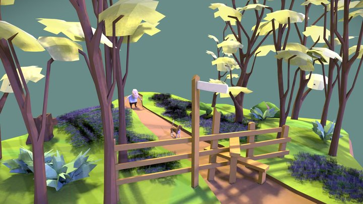 Bluebell Woods 3D Model