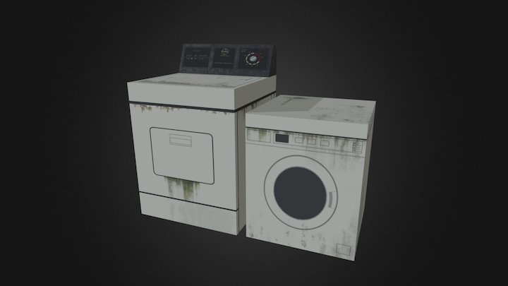 Washer 'N Dryer (Gritty) 3D Model