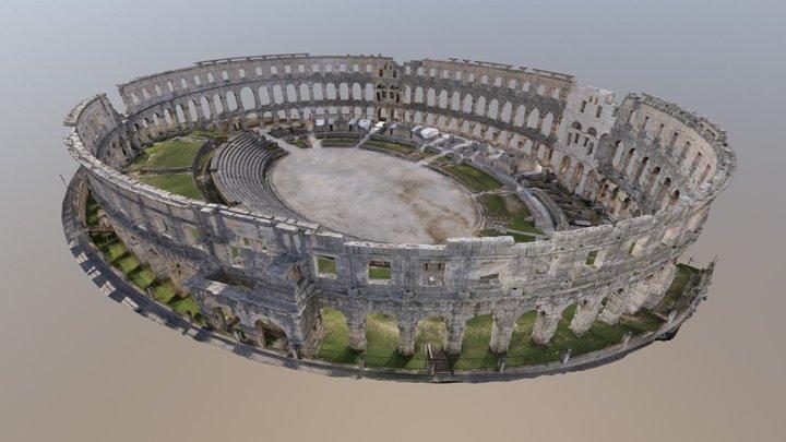 Pula - Roman amphitheater (Vektra d.o.o.) 3D Model