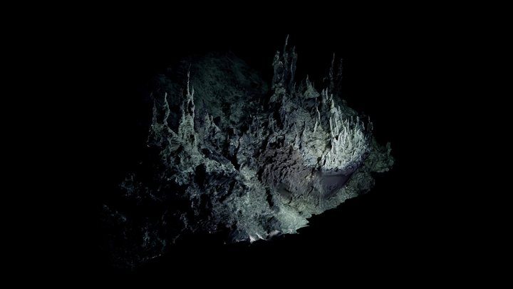 Low Poly Deep Sea Hydrothermal Vent #7 3D Model
